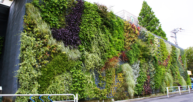 Takenaka garden afforestation inc green walls for Green wall advantages